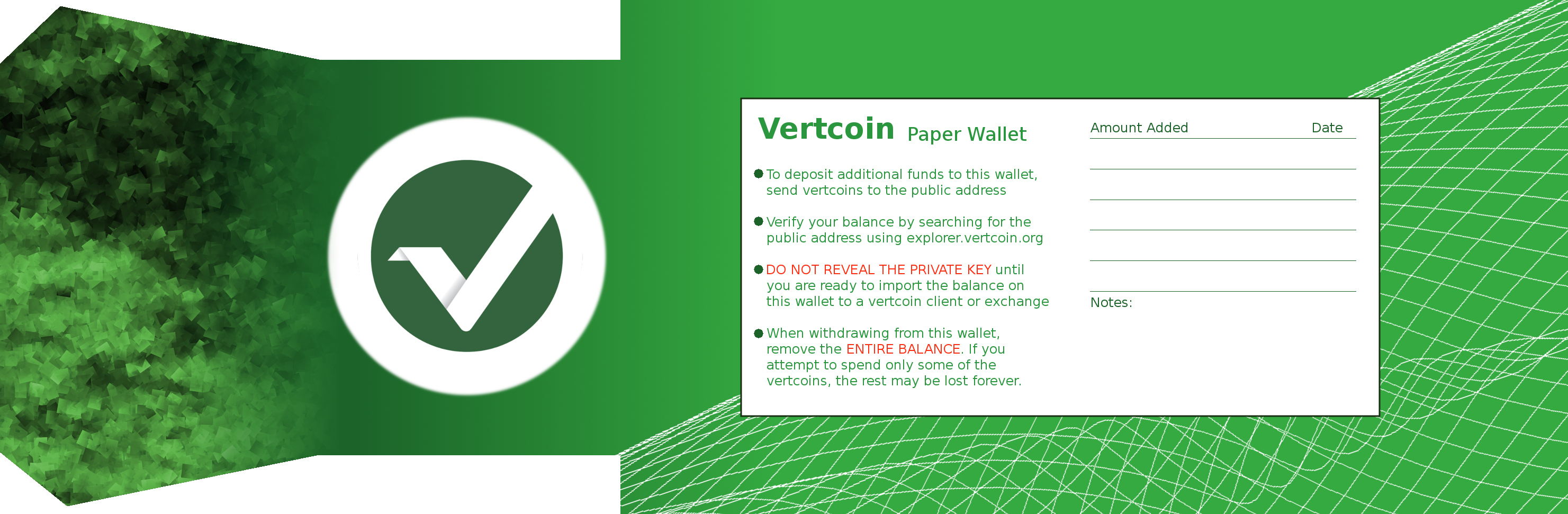 how to make a vertcoin paper wallet